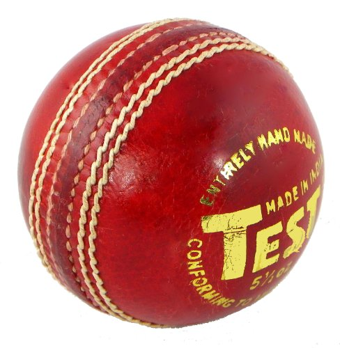 Upfront Opttium Test 5.5oz MENS Cricket Ball. Top Quality alum tanned leather with cork/wool inner core with wax finish.
