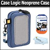 CaseLogic UNZ-3 Medium Universal Neoprene Case w/Screen Protection + LCD Screen Protectors + For Canon PowerShot S90, SD960IS, SD780IS, SD770IS, SX200IS, SD970IS, SD950IS, SD900, SD890IS, SD880IS, SD790IS, SD870IS, SD850IS, SD800IS, SD700IS Digital Camera ~ Case Logic