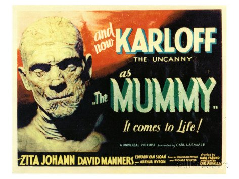Vitality The Mummy, 1932 Television Show Poster Print