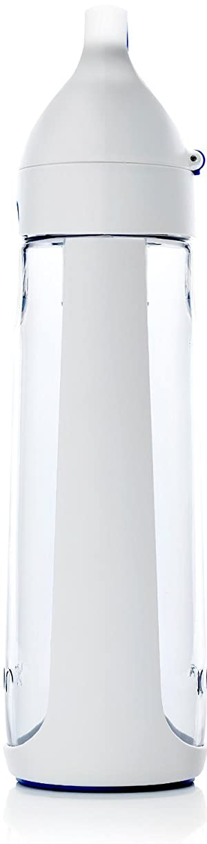 KOR Nava BPA Free Reusable Water Bottle I 650ml (22 Oz) I Filter Straw I Eco-Friendly I Leak Proof Flip Top w/Handle I Great for The Travel, Gym, Running, Camping,and Sports I Dishwasher Safe (Color: Arctic Ice, Tamaño: 650ml)