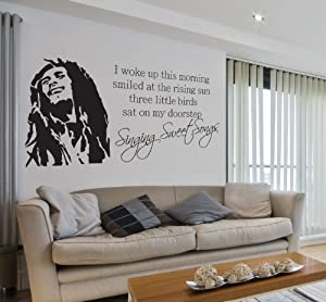 bob marley singing sweet songs lyrics music quote lounge living room