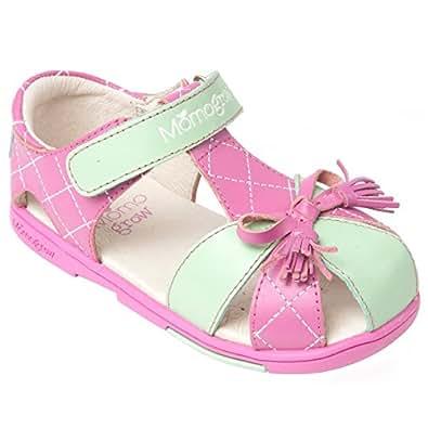Amazon.com: Momo Grow Girls Tassel Bow Leather Sandal Shoes: Shoes