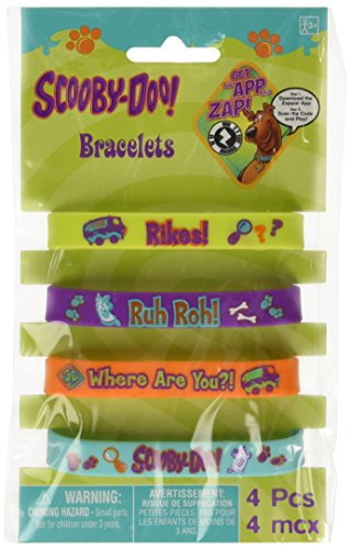 "Amscan Awesome Scooby-Doo Rubber Bracelet Favors Birthday Party Favor, 2-1/2 x-7/16"", Orange/Green/Teal/Purple - 1"