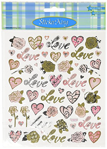 Multi-Colored Stickers-Love & Roses
