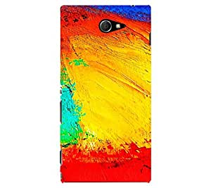 perfect print Back cover for Sony Xperia M2