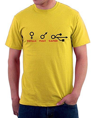 T-shirt Female - Male - Gamer tutte le taglie uomo donna maglietta by tshirteria