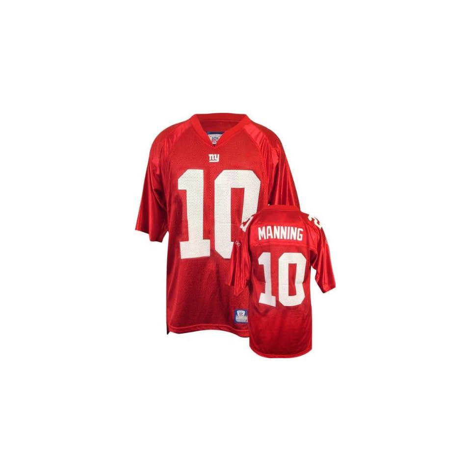 Eli Manning Youth Jersey Reebok Red Replica  10 New York Giants Jersey X  Large ( cbbaa920b