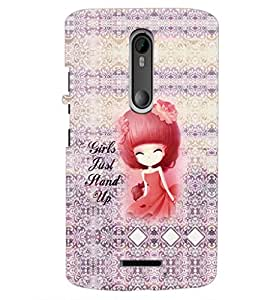 PrintDhaba Quote D-3235 Back Case Cover for MOTOROLA MOTO X3 (Multi-Coloured)