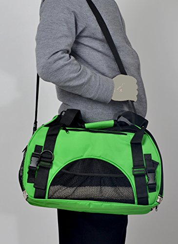 "Lugcor (TM) Microfiber Comfort Soft Sided Pet Carrier ""FAA Approved"" Travel Tote Bag (Neon Green)"