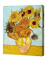 DecorArts - Twelve Sunflowers, by Vincent Van Gogh. The Classic Arts Reproduction. Art Giclee Print On Canvas, Stretched Canvas Gallery Wrapped. 16x20\