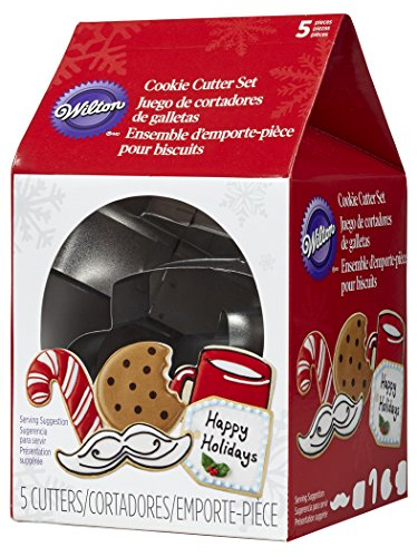 Wilton 5-Piece Christmas Cookies for Santa Metal Cookie Cutter Set