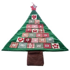 Gisela graham tissu d 39 arbre de no l calendrier de l 39 avent cuisine maison - Arbre de l avent ...