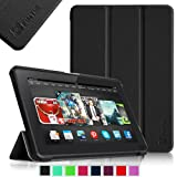 "Fintie Amazon All-New Kindle Fire HDX 8.9 Slim Shell Case - Ultra Slim Lightweight Leather Standing Cover- Black (will only fit Kindle Fire HDX 8.9"" Tablet 2013 Model)"