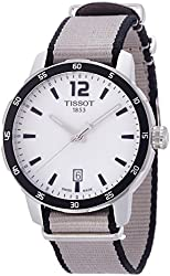 Tissot Men's 'Quickster' Swiss Quartz Stainless Steel and Nylon Automatic Watch, Multi Color (Model: T0954101703700)