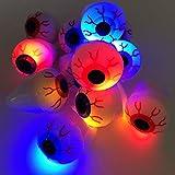 Katoot@ 12PCS Halloween Flash Light Eyeball Ring Kid Party Favor Supply Bag Prop Gift