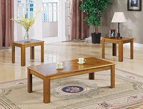 Parquet 3 Piece Table Set (Wood Coffee Table Set Of 3 compare prices)