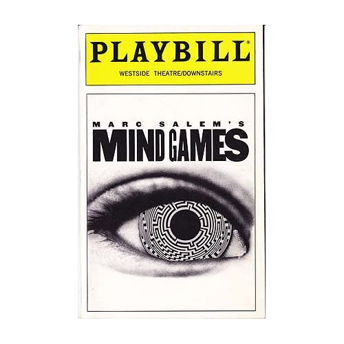Mind Games -- Playbill 1997 Westside Theatre / Downstairs, Salem, Marc