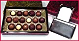 Organic Truffles In Gold Lacquer Box 16 Piece & Open Note Jotter With Gold Corners