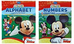 Disney Junior Mickey Mouse Clubhouse Learning Workbooks (Alphabet and Numbers & Counting)