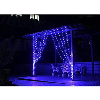 Fuloon 3M x 3M 300 LED Outdoor Party christmas xmas String Fairy Wedding Curtain Light 8 Modes for Choice 110V