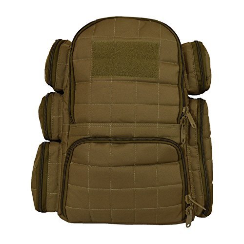 Explorer Tactical Heavy Duty Range Backpack With Adjustable Compartments R4 Coyote Tan (Range Bag Tactical Backpack compare prices)