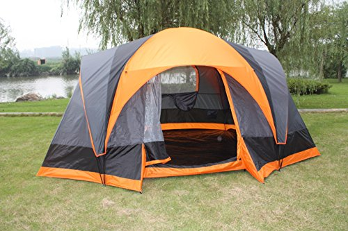 Wenzel Kodiak Family Cabin 9 Person Tent Standing Room 100 Hanging