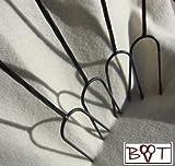 4 Grillspieße Grillspieß 1 m Länge Wurstspieß Grillgabel BBQ Grillbesteck (Achtung kein Teleskop zum Ausziehen, sondern feste (stabile) Form aus gedrehtem Stahl) ideal für Camping, Freizeit, Lagerfeuer, Grillfest, Gartenparty, Geburtstag, Outdoor, usw.