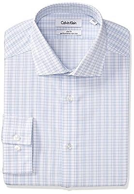 Calvin Klein Men's Slim Fit Non Iron Check Shirt