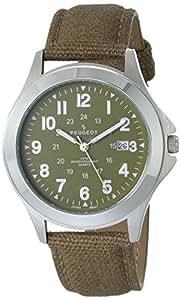 Peugeot Men's 2041 Analog Display Japanese Quartz Green Watch