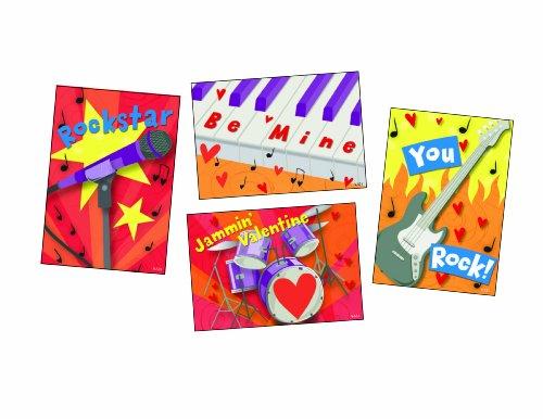 Kids Rock Band Valentine Card Assortment, 20 Pack