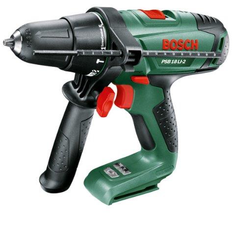 Bosch PSB 18 LI-2 Cordless 18 Volt Hammer Drill, Baretool (no Battery or Charger)