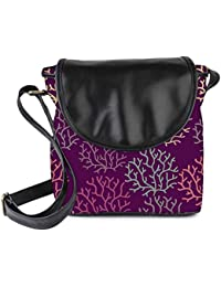 Snoogg Seamless Pattern With Leaf Seamless Texture Can Be Used For Wallpaper Womens Sling Bag Small Size Tote...