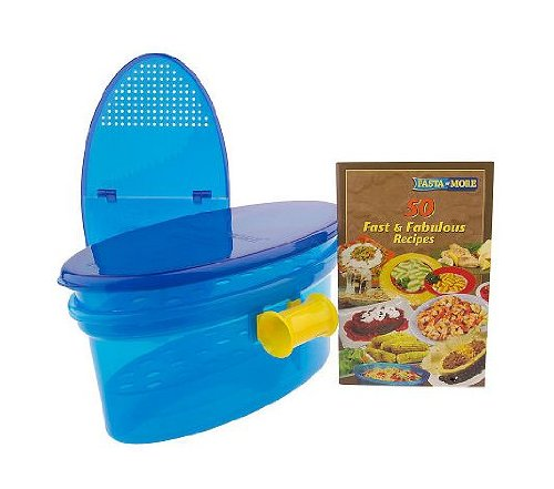 Pasta N More 5 Piece Microwave Pasta Cooker Set with Bonus Cookbook