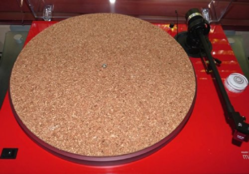 Great Deal! TC-1 CORK Turntable Mat,Audiophile Record Platter Mat, Enhances Details,Mid & Low Bass,Emotions
