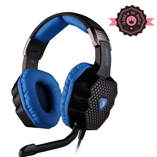 Sades A70 Black Breathing Light Changing Light Color Headset Usb Largest 50Mm Speaker System Gaming Headset With Dolby 7.1 Technology