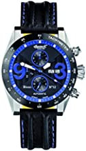 Ingersoll Men's Automatic Watch with Black Dial Analogue Display and Black Leather Strap IN1620BKBL
