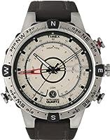 Timex - T2N721D7 - Intelligent Quartz - Montre Homme - Quartz Analogique - Cadran Beige - Bracelet Cuir Marron