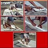 "White Eternabond Mobile Home RV Rubber Roof Repair 4"" x 10"