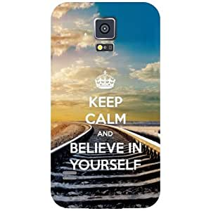 Samsung Galaxy S5 - Keep Calm & Believe In Yourself Matte Finish Phone Cover