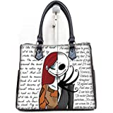 Fashionable Female Women Barrel Type Handbags Pouch Jack and Sally Print.