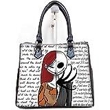 Fashionable Female Women Barrel Type Handbags Pouch Jack and Sally Print.
