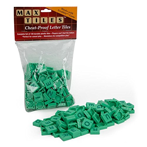 "Scrabble Tiles * - Full Set of 100 ""Cheat Proof"" Plastic Tiles (Green) - Perfect for Professional Use, Scrapbooking or Crafting!"