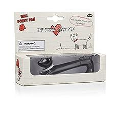 NPW NP2744 - Bolígrafo de tinta gel negro, diseño gato