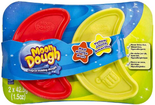 Red & Yellow: Moon Dough Double Pack - Magical Molding Dough