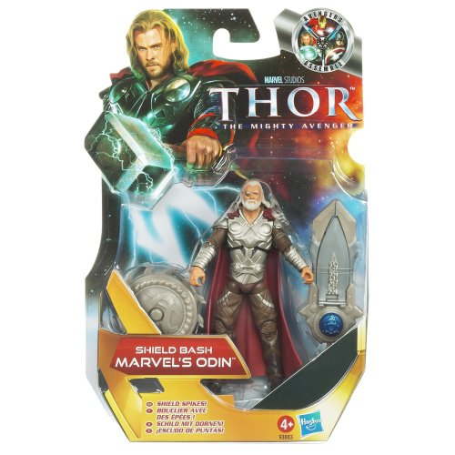 Thor Movie 4 Inch Series 1 Action Figure Shield Bash Marvels Odin