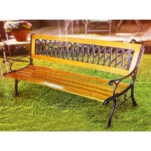 solid wood garden bench brown garden outdoors
