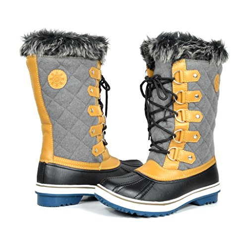 GW Women's 1560-2 Grey Water Proof Snow Boots 11 M US