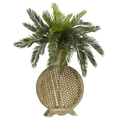 Nearly Natural Cycas w/Decorative Vase Silk Plant