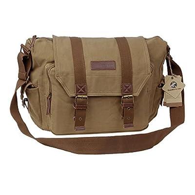 Koolertron Canvas DSLR SLR Camera Shoulder Bag Backpack Rucksack Bag For Sony Canon Nikon Olympus