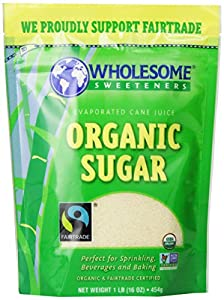 Wholesome Sweeteners Fair Trade Organic Sugar, 16-Ounce Pouches (Pack of 12)
